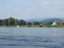 Donau mit Bayerwaldbergen im Hintergrund